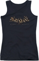 Batman Arkham Knight juniors tank top Ak Flame Logo black