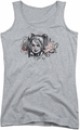 Harley Quinn juniors tank top Hq Sketch athletic heather