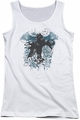 Batman Arkham Knight juniors tank top I Know white