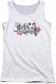 Harley Quinn juniors tank top Lips white