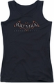 Batman Arkham Knight juniors tank top Logo black