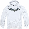 Batman Arkham Knight pull-over hoodie Descending Logo adult white