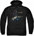 Batman Arkham Knight pull-over hoodie Knight Rider adult black