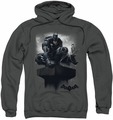 Batman Arkham Knight pull-over hoodie Perched adult charcoal