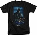 Batman Arkham Knight t-shirt Batmobile mens black