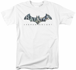 Batman Arkham Knight t-shirt Descending Logo mens white