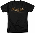 Batman Arkham Knight t-shirt Flame Logo mens black
