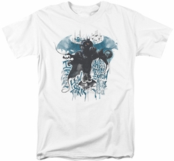 Batman Arkham Knight t-shirt I Know mens white