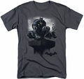 Batman Arkham Knight t-shirt Perched mens charcoal