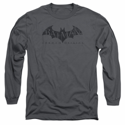 Batman Arkham Origins adult long-sleeved shirt Crackle Logo charcoal