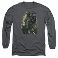 Batman Arkham Origins adult long-sleeved shirt Deathstroke charcoal