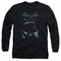 Batman Arkham Origins adult long-sleeved shirt Perched Cat black