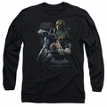 Batman Arkham Origins adult long-sleeved shirt Punch black