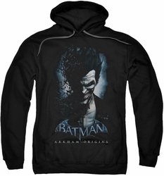 Batman Arkham Origins pull-over hoodie Joker adult black