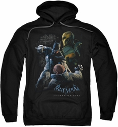 Batman Arkham Origins pull-over hoodie Punch adult black