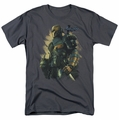 Batman Arkham Origins t-shirt Deathstroke mens charcoal