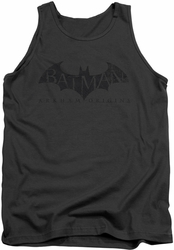 Batman Arkham Origins tank top Crackle Logo adult charcoal