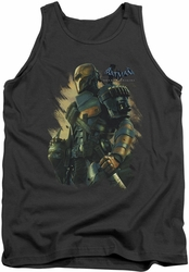 Batman Arkham Origins tank top Deathstroke adult charcoal