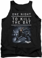 Batman Arkham Origins tank top One Night adult black