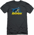Batman Character slim-fit t-shirt 8 Bit Cape mens charcoal