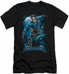 Nightwing Character slim-fit t-shirt All Grown Up mens black