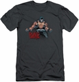 Batman Character slim-fit t-shirt Bane Flex mens charcoal