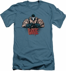 Batman Character slim-fit t-shirt Bane Pump You Up mens slate