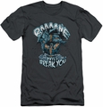 Batman Character slim-fit t-shirt Bane Will Break You mens charcoal