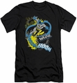 Batman Character slim-fit t-shirt Bat Effects mens black