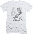 Batman Character slim-fit t-shirt Bat Sketch mens white