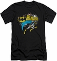 Batman Character slim-fit t-shirt Batgirl Halftone mens black