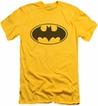 Batman slim-fit t-shirt Black Bat mens yellow