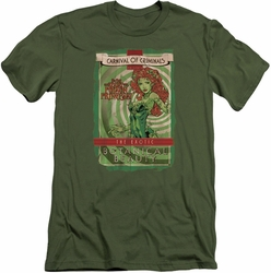 Poison Ivy Character slim-fit t-shirt Botanical Beauty mens military green