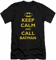Batman Character slim-fit t-shirt Call Batman mens black