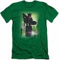 Batman Character slim-fit t-shirt Catwoman #63 Cover mens kelly green