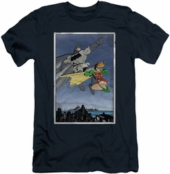 Batman Character slim-fit t-shirt Dark Knight Duo mens navy