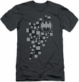 Batman Character slim-fit t-shirt Gotham 3D mens charcoal