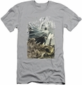 Batman Character slim-fit t-shirt Instill Fear mens silver