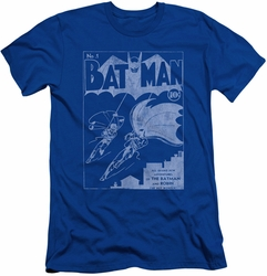 Batman Character slim-fit t-shirt Issue 1 Cover mens royal
