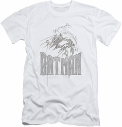 Batman Character slim-fit t-shirt Knight Sketch mens white