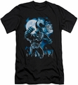 Batman Character slim-fit t-shirt Moonlight Bat mens black