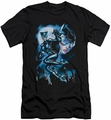 Batman Character slim-fit t-shirt Moonlight Cat mens black