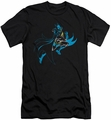 Batman Character slim-fit t-shirt Neon Batman mens black