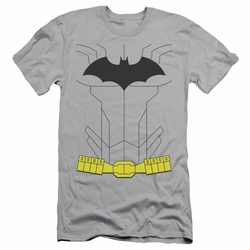 Batman Character slim-fit t-shirt New Batman Uniform mens silver