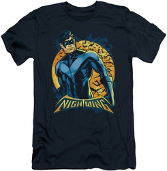 Nightwing Character slim-fit t-shirt Moon mens navy