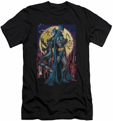 Batman Character slim-fit t-shirt Paint The Town Red mens black