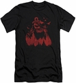 Batman Character slim-fit t-shirt Red Knight mens black