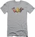 Harley Quinn slim-fit t-shirt Sirens Bat mens silver