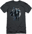 Batman Character slim-fit t-shirt Spotlight mens charcoal