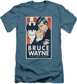 Batman Character slim-fit t-shirt Wayne For President mens slate
